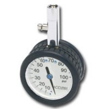 "2"" Round Tire Gauge (White Face)"