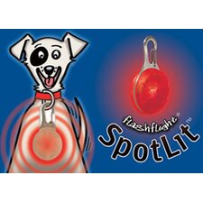 SPOTLit LED Dog Collar Light and Safety Flasher