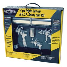 Hvlp Spray Gun 4Pc Kit