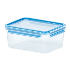 Emsa 3D Food Storage Deep Rectangular 78 fl oz Clip and Close Container