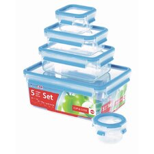 Emsa 3D Food Storage 5 Piece Clip and Close Container Set