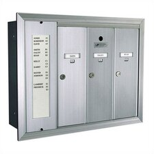 1255  Vertical Mailbox Unit With Directory and Semi - Recessed Collar