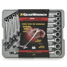 12Pc Metric X Beam Ratcheting Combo Wrench Set