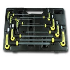 T Handle Ball End Metric Hex Key Set 9 Pc.