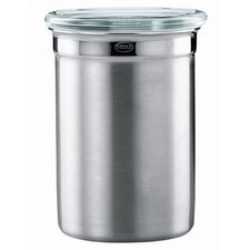 Stainless Steel Jar / Canister with Glass Lid