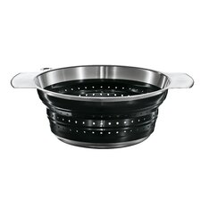 "8"" Foldable Strainer in Black"