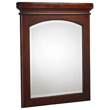Cirtangular Mirror in Mahogany