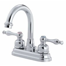 Sheridan Centerset Bathroom Sink Faucet with Double Lever Handles