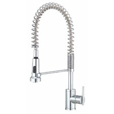 Parma Single Handle Single Hole Pre-Rinse Kitchen Faucet