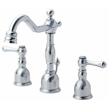 Opulence Widespread Bathroom Sink Faucet with Double Lever Handles
