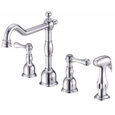 Opulence Two Handle Widespread Kitchen Faucet with Spray