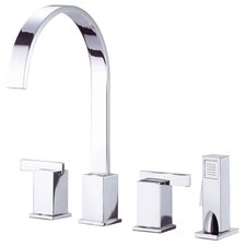 Sirius Two Handle Widespread Kitchen Faucet