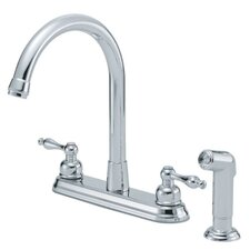 Sheridan Double Handle Centerset Kitchen Faucet with Spray
