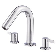 Amalfi Two Handle Mini-Widespread Roman Tub Faucet Trim