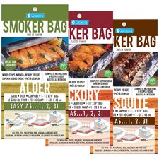 Alder, Hickory and Mesquite Smoker Bag (Set of 3)