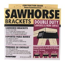 Double Duty Sawhorse & Work Surface Brackets 90-6