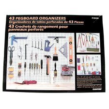 43 Piece Pegboard Kit