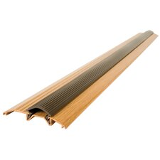 "<strong>M-d Products</strong> 3.75"" Metal Decor Oak Low Threshold in Aluminum"