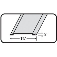 0.13 x 1.75 Flat Top Saddle Threshold in Satin Nickel