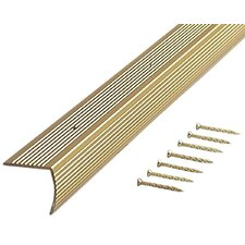 "1.13"" Fluted Stair Edging in Satin Brass"