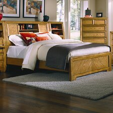 Casual Home Bookcase Panel Bed