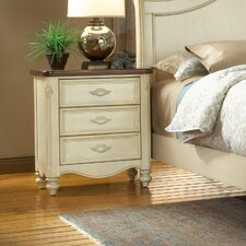 <strong>American Woodcrafters</strong> Chateau 3 Drawer Nightstand