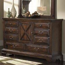 Heritage Lodge Triple 8 Drawer Dresser