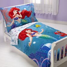 Ariel Ocean Princess 4 Piece Toddler Bedding Set