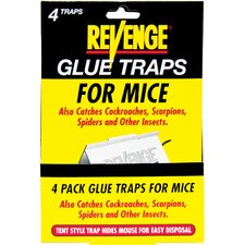 Revenge Glue Traps for Mice (Set of 4)