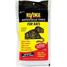 Revenge Baited Glue Tray for Rats ( Set of 2)