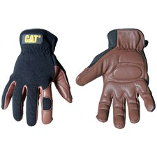 <strong>CAT</strong> Rainwear Boss Deerskin and Spandex Gloves in Brown/Black