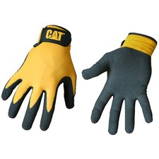 <strong>CAT</strong> Rainwear Boss Foam Cell Nitrile Coated Gloves in Yellow