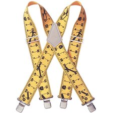 "2"" Ruler Heavy Duty Elastic Suspenders  110RUL"