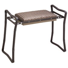 Steel Wicker Classic Garden Kneeler and Bench