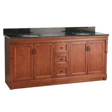 "Naples 72"" Bathroom Vanity Set with Granite Top"