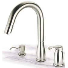 <strong>Pegasus</strong> One Handle Widespread Gooseneck Kitchen Faucet