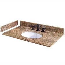 "Granite 61"" Double Bowl Vanity Top"