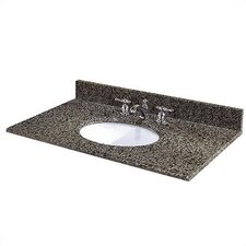 "61"" Granite Double Bowl Vanity Top with Sink"