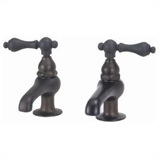 Bathroom Faucet Set with Metal Lever Handles