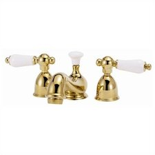 Mini - Widespread Bathroom Faucet with Double Porcelain Lever Handles