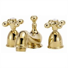 Mini - Widespread Bathroom Faucet with Double Metal Cross Handles