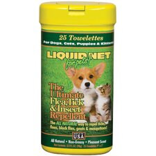 Liquid Net Insect Repellent Pet Wipes (Set of 6)