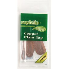 """4"""" Copper Rapiclip Plant Tags (Set of 12)"""