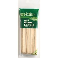 "6"" Rapiclip Wood Plant Labels"