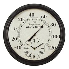 "16.34"" Lincoln Wall Clock"