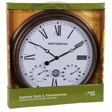"16"" Rust Henley Clock"