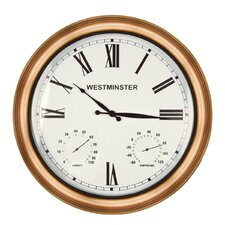 "15"" Bright Copper Mollington Clock"