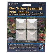 Mini Pyramid 3 Day Fish Feeder - 4 Count
