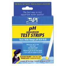 25 PH Aquarium Test Strips 33F