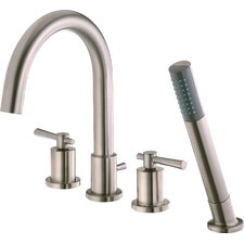 <strong>Belle Foret</strong> Ulm Double Handle Roman Diverter Tub Faucet Valve with Hand Shower